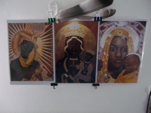 Nic's Triptych - Three paintings of his interpretation of the Black Madonna